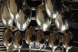 POMPADOUR CHRISTOFLE set SILVERPLATE DINNER Forks Spoons Knives