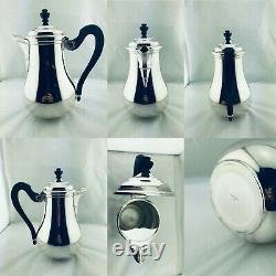 PUIFORCAT France SILVER PLATED TEA COFFE CHOCOLATE POT SET NEVER USED 6 Pcs