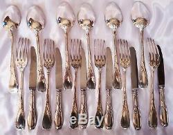 Peau De Lion Flatware (6 Guests, 18 pieces) knives included