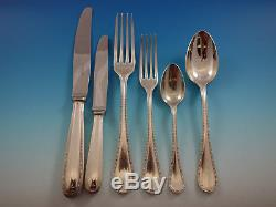 Perles by Christofle France Silverplate Flatware Set for 6 Dinner Service 40 pcs