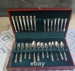 Prestige 1948 BORDEAUX Oneida Silver Plate Silverware Set Of 51