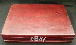 Prestige Bordeaux Silverplate Flatware 41pc. Set Chest / Box Post-1940