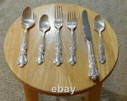 RARE ANTIQUE SILVERPLATE FLATWARE 6pc 1847 ROGERS BROTHERS HERITAGE COMPLETE SET