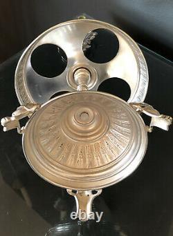 RARE Late 19th-Century Victorian Silver Plate Castor Set 4-pc Antique Cruet