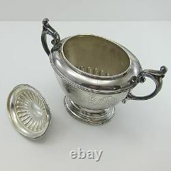REED & BARTON Antique TEA/CHOCOLATE SET Seed Pod COCOA BEAN FINIAL Silverplate
