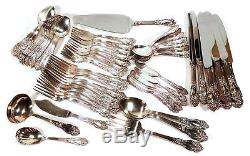 REED & BARTON FESTIVITY TIGER LILY 64 pc SILVERPLATED SILVER PLATE FLATWARE SET