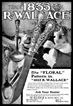 R. Wallace Silverplate Floral Carving Set (1902) Henrik Hillbom, Art Nouveau