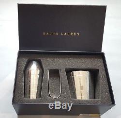 Ralph Lauren Montgomery Silver Plated Brass Mini Cocktail Set