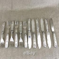 Rare Antique Cutlery Flatware Fish Forks Set White Star Line Titanic Interest