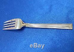 Rare! SET of 6 Christofle TRIADE GOLD Silver-plate Salad Forks 6 1/2 in FRANCE