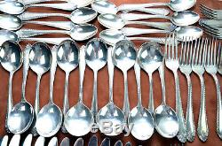 Reed And Barton Mirrorstele Silver Plate Flatware Set 70 pieces
