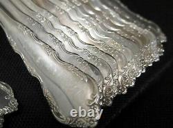 Reed Barton Dresden Rose 141 Pc Silver Plate Flatware Set Service For 16