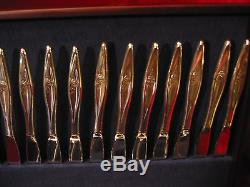 Reed Barton Nostalgia Silverplate Flatware Set and Chest 74 Pc Lot 1963 Roses