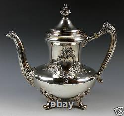 Reed & Barton Pre-1928 Silverplate Coffee Pot, Sugar Bowl, and Creamer Set 3643
