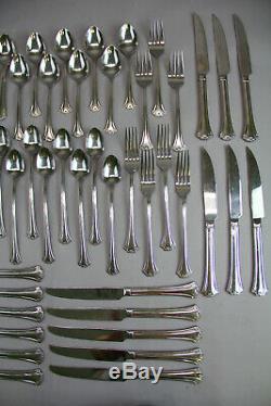 Reed & Barton Set Lot 58pcs Stainless Steel Flatware Silverware Luxury Decor