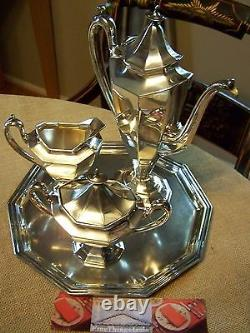 Reed & Barton Sierra Neo Classical Demitasse Sized Coffee Tea Service Pot Set