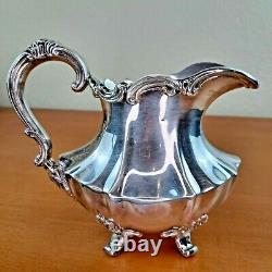 Reed & Barton Victorian 6710 Silverplate Set Teapot Coffee Sugar Creamer & Tray
