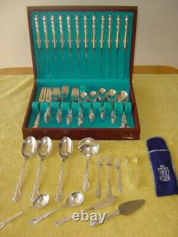 Rogers Bros Silverplate Reflections 12 Place Settings plus 12 extra pieces