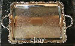 Rogers Punch Bowl Set Silver Plated 12 Cups, Ladel, Serving Tray Excellent