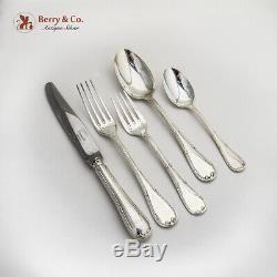 Rubans 42 Piece Flatware Set Christofle France Silverplate