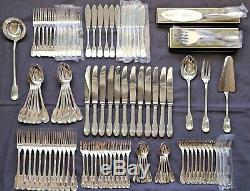 SET Christofle CLUNY Silver-plate Table Fish Cake Dinner Forks Spoons Ladle