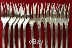 SET of 12 Christofle MARLY Silver-plate dessert cake pie Forks + Server + BOX