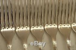 SET of 12 Christofle SPATOURS Silver-plate Table Dinner FORKS FRANCE
