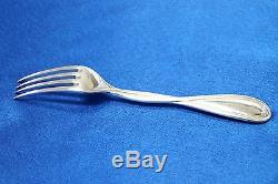 SET of 6 Christofle GALEA Silver-plate Dessert Forks 6 3/4 inch FRANCE