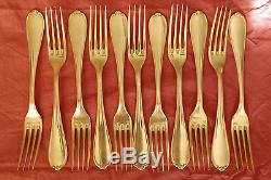 SET of ERCUIS Silver-plate DESSERT & DINNER FORKS SPOONS KNIVES NO CHRISTOFLE