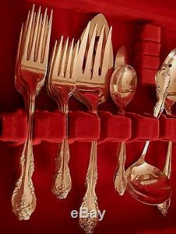 SOUTHERN SPLENDOR ROYAL PAGEANT Rogers Silverplate set for 8 + soup 7 serv pcs