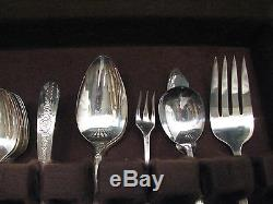 Set 48 pcs Nobility Plate Royal Rose Service for 12 Silverplate Flatware withBox D