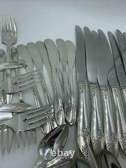 Set 70pc Tudor Plate Queen Bess II Silverplate Flatware svc/12 Oneida Community