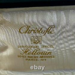 Set Christofle Marly Pattern Fork and Spoon Flatware Box