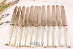 Set Of 12 Vintage Christofle Paris Silver Plate Dinner Knives Knife Lot Of 12