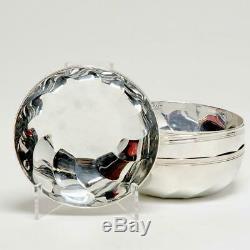 Set Of 4 Christofle Silver Plate Torsades Swirls Bowls 4.5