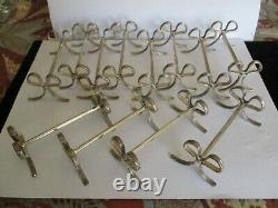 Set of 12 Silverplate Knife Rests, METAL ARGENTE GH, France, Bow withCross Bands