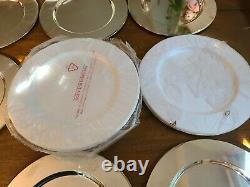 Set of 24 Godinger Silver Art Co. LTD 11 1/2 Silverplate Charger Plates