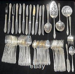 Silver Plate Oneida EVENING STAR 80 pc Flatware Set Service for 12 with Serving