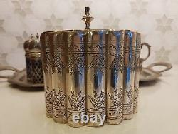 Silver Table Set Butter Dish, S&P Shakers, Caddy, Milk Jug, Sauce Boat &2 Trays