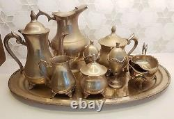 Silver Tea Set Tea & Coffee Pots, Jug, Milk Jug, Sugar Bowl, 2 Egg Cups etc