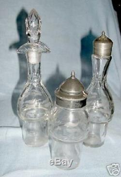 Silverplate Victorian Castor Set with Cut Glass Cruets