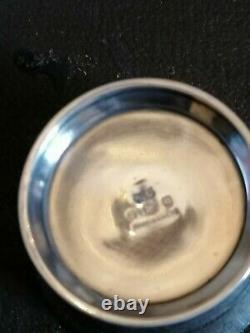 Solid Silver Cruet Set, Traditional Open Salt Style. Mappin & Web (B)