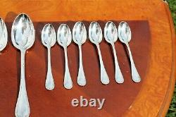 Splendid Christofle Rubans Silver Plated 24 Pieces Set in Six setting