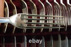 Stunning Set Of 24 Silver Plated & Mother Of Pearl Fruit Cutlery