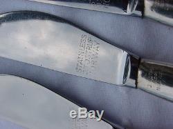 Tostrup Norway Silver-plated rare Arne Korsmo set of 6 design knifes