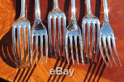 Unused Christofle Marly Silver Plated Flatware 24 Pcs in 6 Settings