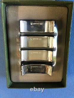VAGUE by Christofle Silverplate Knife Rests Never Used Set of 4 in Original Box