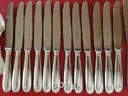 VENDOME SET Christofle Silver-plate Table Dinner Forks Spoons Ladle Knives