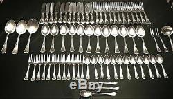 VINTAGE Art Nouveau Bader German Silver 90 Flatware 69 pcs FULL Set for 12Heavy
