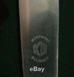 VINTAGE Art Nouveau KB German Silver 100 Flatware 34 pcsSet for 6Heavy